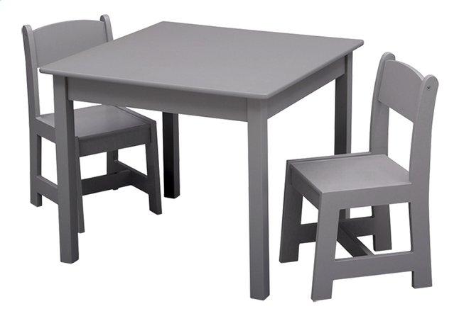Delta children tafel met 2 stoelen voor kinderen grijs collishop