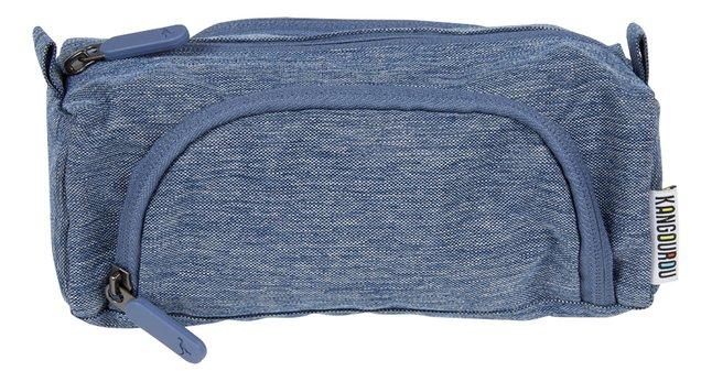 Afbeelding van Kangourou pennenzak 3 vakken blauw from ColliShop