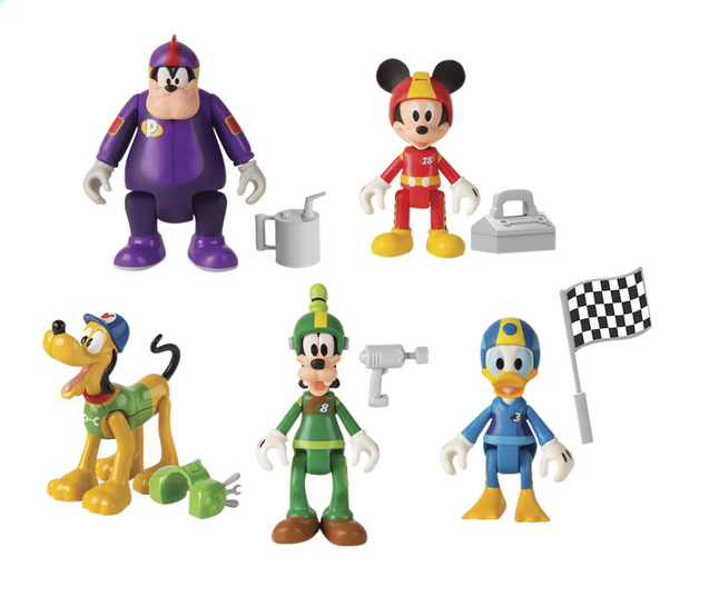 Figurine articulée Disney Mickey and the Roadster Racers série 2 - 5 pièces