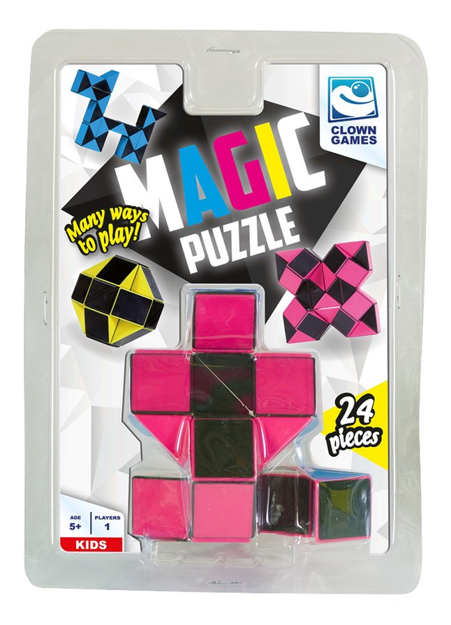 Magic Puzzle 24 stukjes roze