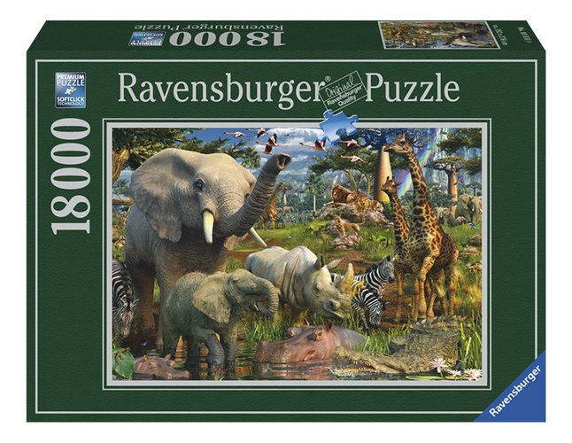 Afbeelding van Ravensburger puzzel Wildlife from ColliShop