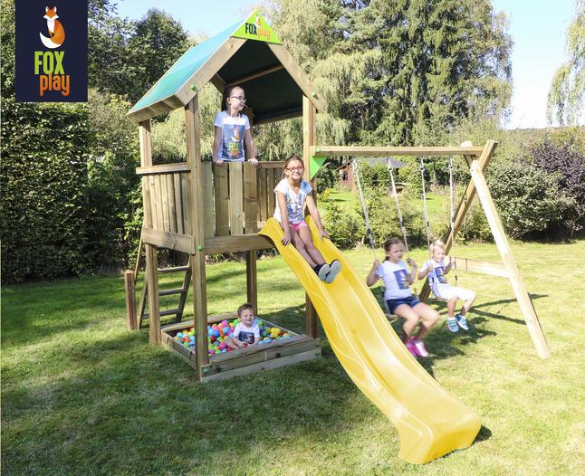 Afbeelding van Fox play schommel Riverside met gele glijbaan from ColliShop