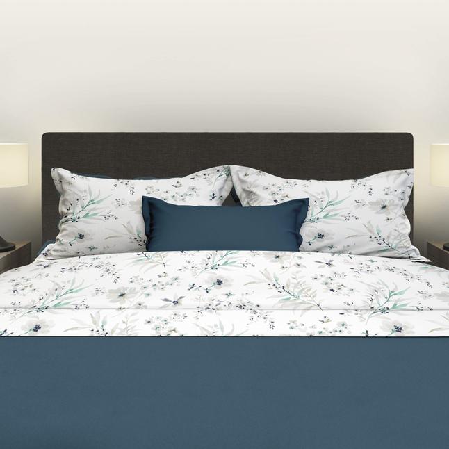Image pour Satin d'Or Drap de lit Irena vert/blanc satin de coton 180 x 290 cm à partir de ColliShop