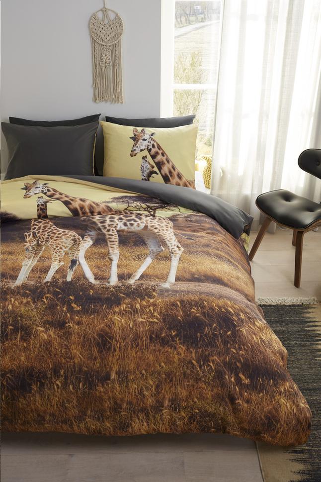 Image pour Beddinghouse Housse de couette Masai giraffe ocre coton 240 x 220 cm à partir de ColliShop