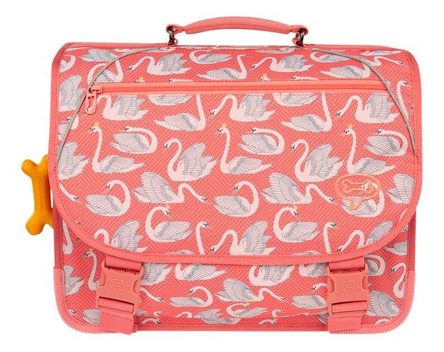 Stones and Bones boekentas Cedar Swans Pink 40,5 cm