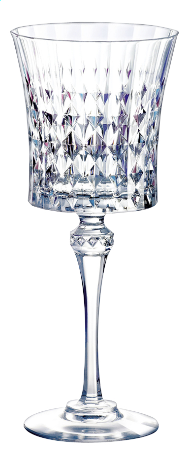 Afbeelding van Eclat Cristal d'Arques Paris 6 wijnglazen Lady Diamond from ColliShop