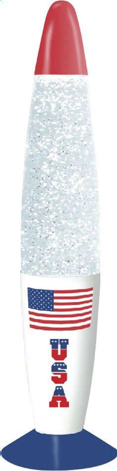 Afbeelding van Lavalamp Kreative Glitter USA from ColliShop