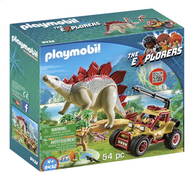 Afbeelding van PLAYMOBIL The Explorers 9432 Explorersbuggy met stegosaurus from ColliShop