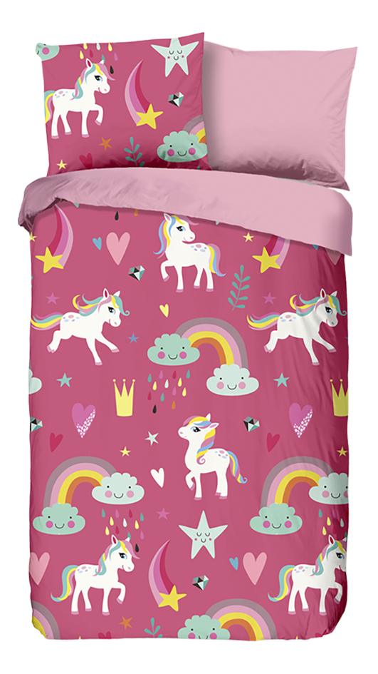 Image pour Good Morning Housse de couette Unicorn flanelle Lg 140 x L 220 cm à partir de ColliShop