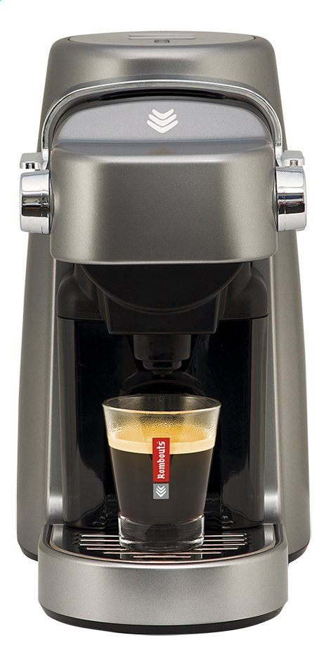 Rombouts Espressomachine Xpress'Oh metal grey