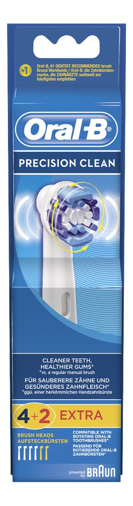 Afbeelding van Oral-B 4+2 vervangborsteltjes Precision Clean from ColliShop