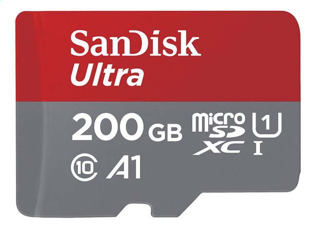 Afbeelding van SanDisk geheugenkaart microSDXC Ultra Android A1 Class 10 200 GB from ColliShop