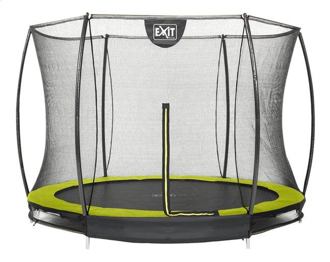 Afbeelding van EXIT inbouwtrampoline met veiligheidsnet Silhouette Ground Ø 2,44 m lime from ColliShop