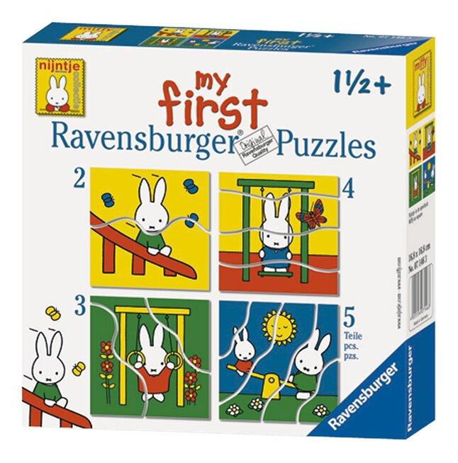 Afbeelding van Ravensburger meegroeipuzzel 4-in-1 Nijntje from ColliShop