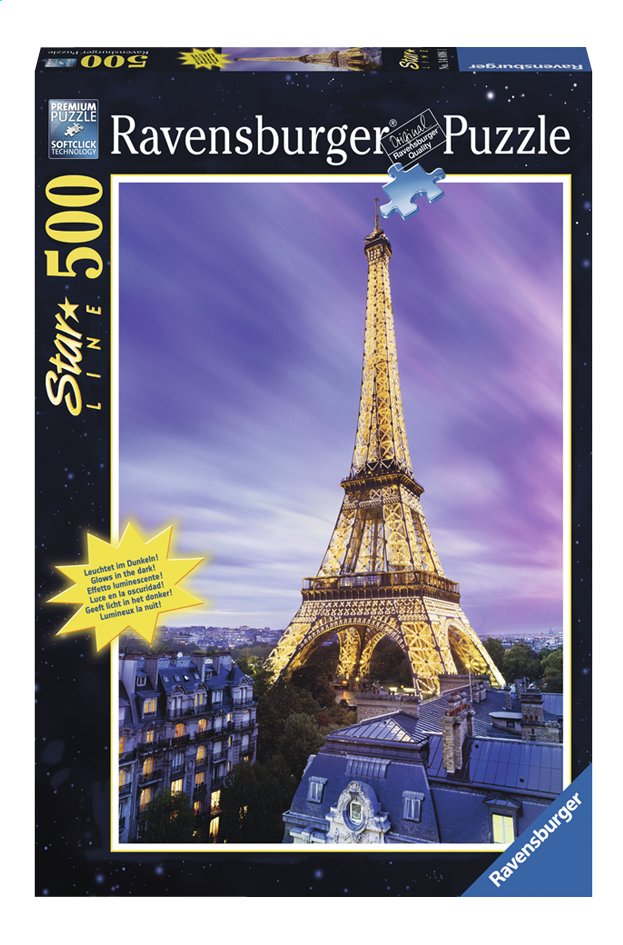 Afbeelding van Ravensburger puzzel Verlichte Eiffeltoren from ColliShop