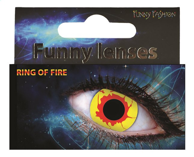Afbeelding van Funny Fashion daglenzen Ring of Fire from ColliShop