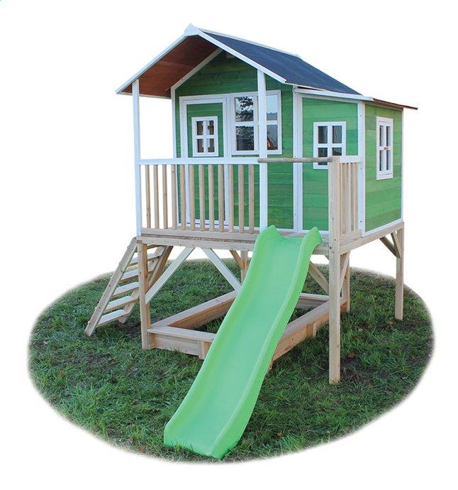 Afbeelding van EXIT houten speelhuisje Loft 550 groen from ColliShop