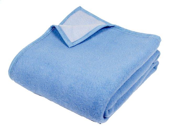 Image pour Sole Mio couverture en laine bleu/bleu ciel 180 x 220 cm à partir de ColliShop