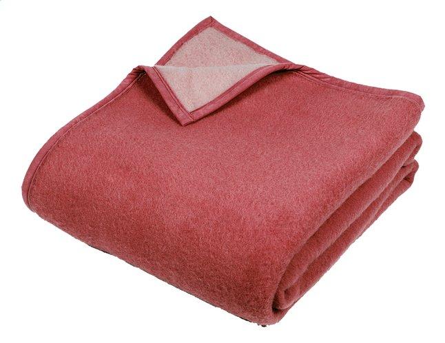 Image pour Sole Mio Couverture en laine rose/fraise 180 x 220 cm à partir de ColliShop