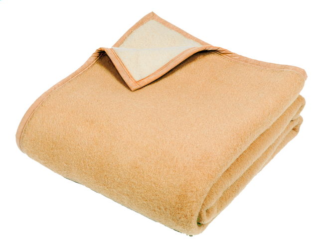 Image pour Sole Mio couverture en laine jaune maïs/jaune  220 x 240 cm à partir de ColliShop