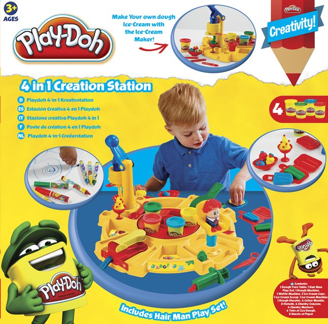 Afbeelding van Play-Doh speelset 4-in-1 Creëerstation from ColliShop