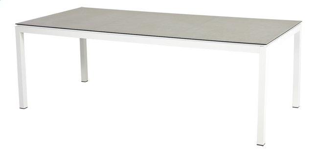 Ocean table de jardin Jura blanc L 220 x Lg 100 cm