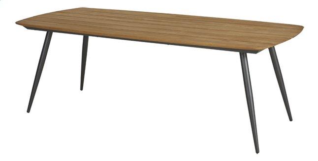 Ocean table de jardin Amazone Charcoal L 220 x Lg 100 cm