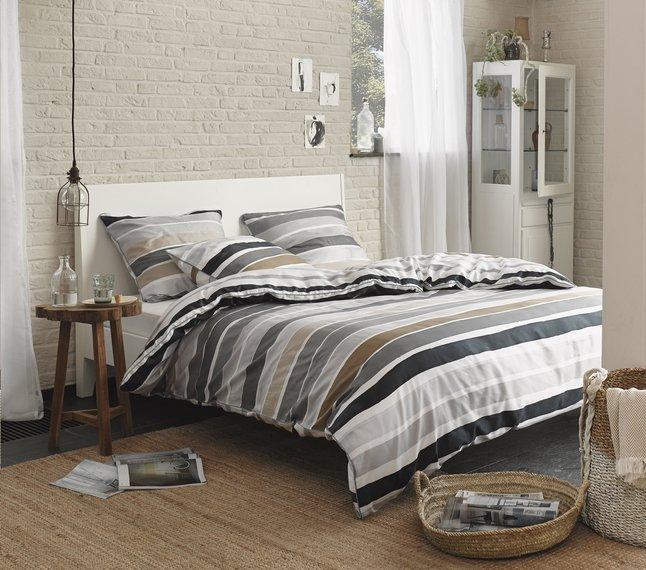 esprit housse de couette iva beige satin de coton collishop. Black Bedroom Furniture Sets. Home Design Ideas