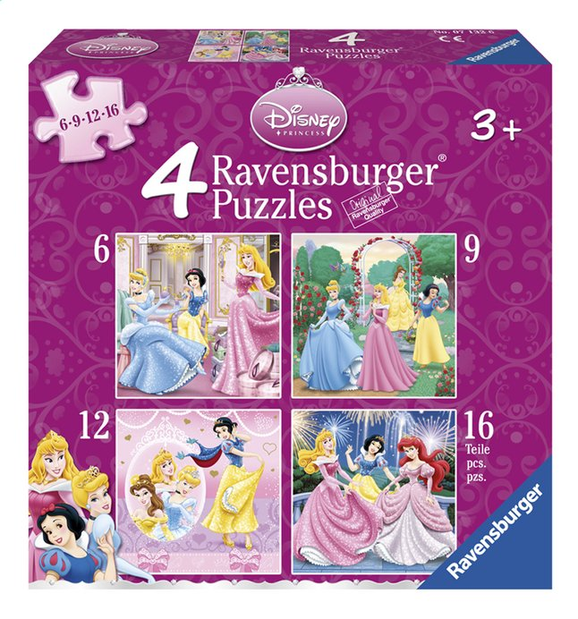Afbeelding van Ravensburger 4-in-1 meegroeipuzzel Disney princess from ColliShop