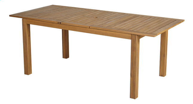 Table de jardin à rallonge Madrid L 160 x Lg 90 cm