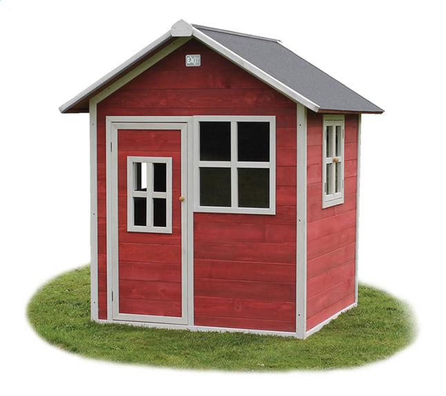 Afbeelding van EXIT houten speelhuisje Loft 100 rood from ColliShop