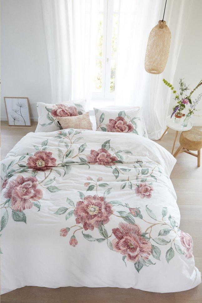 Afbeelding van Beddinghouse Dekbedovertrek Rosette pink katoen from ColliShop