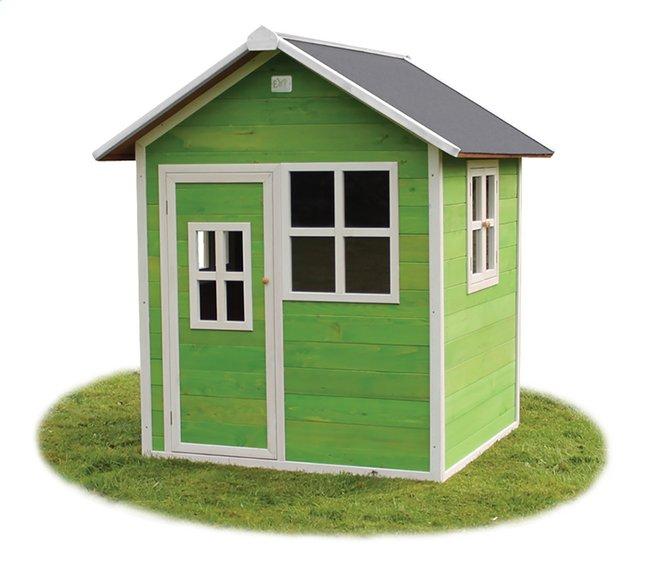 Afbeelding van EXIT houten speelhuisje Loft 100 groen from ColliShop