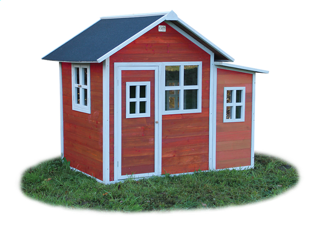 Afbeelding van EXIT houten speelhuisje Loft 150 rood from ColliShop
