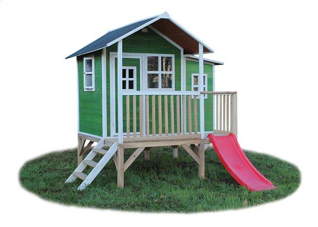 Afbeelding van EXIT houten speelhuisje Loft 350 groen from ColliShop