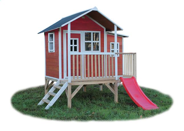 Afbeelding van EXIT houten speelhuisje Loft 350 rood from ColliShop