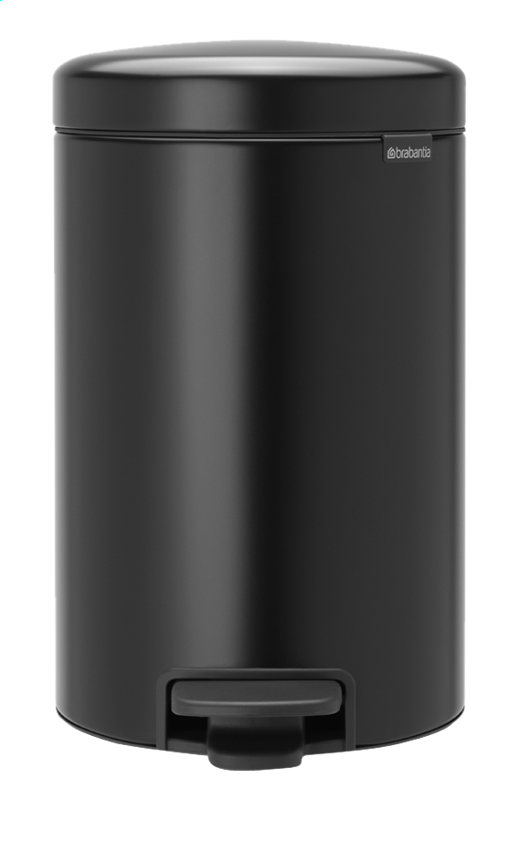Afbeelding van Brabantia Pedaalemmer NewIcon matt black 12 l from ColliShop