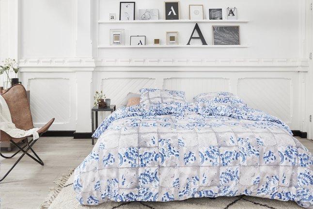 Afbeelding van At Home Dekbedovertrek Onetime blue katoen from ColliShop