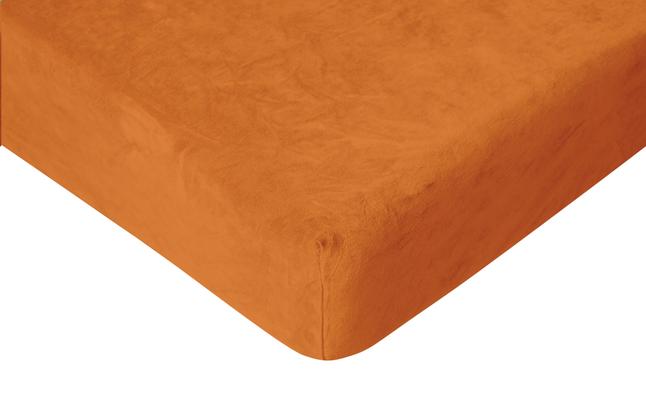 Image pour Romanette Drap-housse velours terracotta 90 x 200 cm à partir de ColliShop
