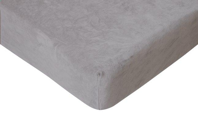 Image pour Romanette Drap-housse velours anthracite 180 x 200 cm à partir de ColliShop