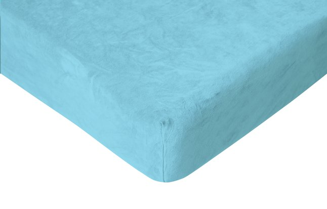 Image pour Romanette Drap-housse velours turquoise à partir de ColliShop