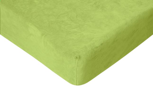 Image pour Romanette Drap-housse velours lime 160 x 200 cm à partir de ColliShop