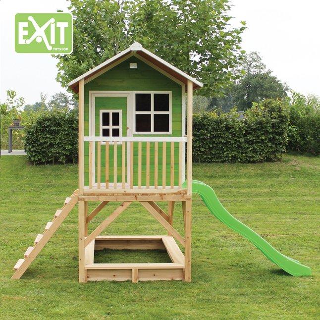 Image pour EXIT maisonnette en bois Loft 500 vert à partir de ColliShop