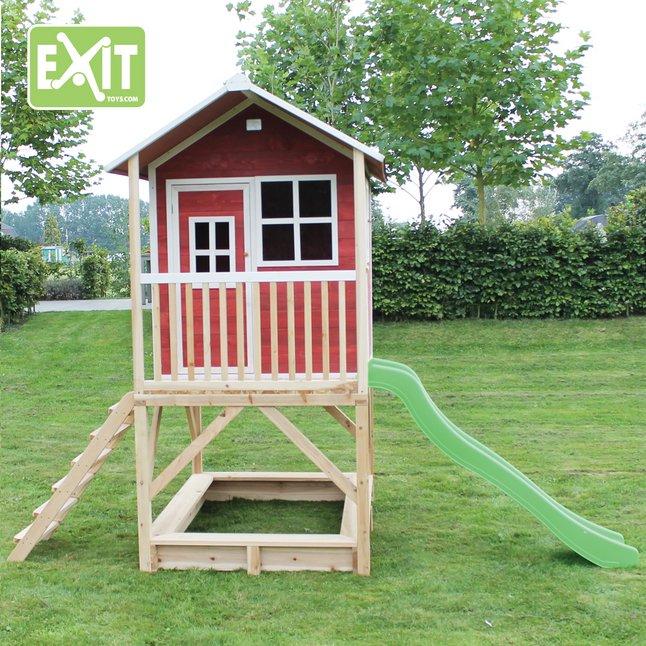 Image pour EXIT maisonnette en bois Loft 500 rouge à partir de ColliShop