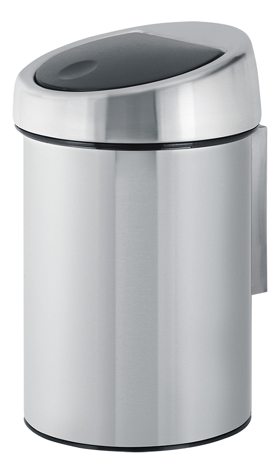 Brabantia Afvalemmer Touch Bin matt steel fingerprint proof 3 l
