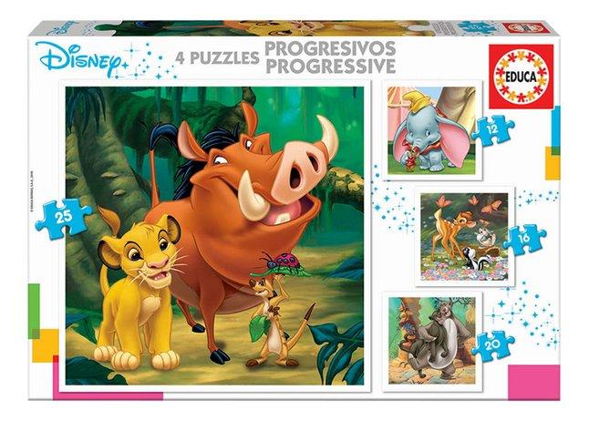 Educa Borras puzzel 4-in-1 Disney Animals
