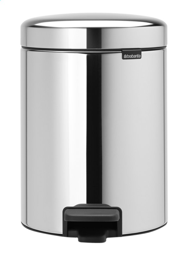 Afbeelding van Brabantia Pedaalemmer NewIcon Brilliant Steel 5 l from ColliShop