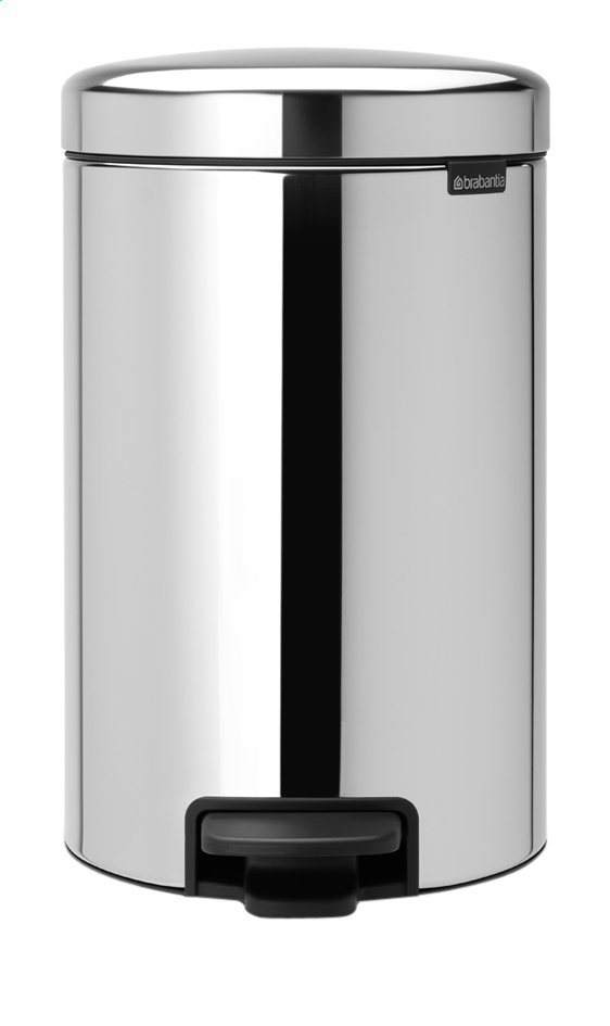 Afbeelding van Brabantia Pedaalemmer newIcon Brilliant Steel 12 l from ColliShop