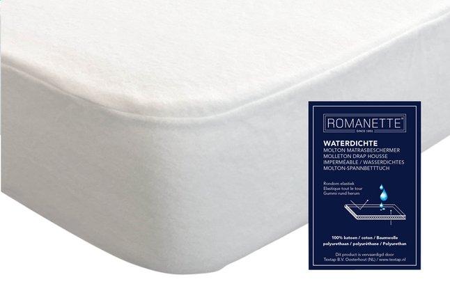 Image pour Romanette Protège-matelas (housse) molleton/PU 160 x 200 cm à partir de ColliShop