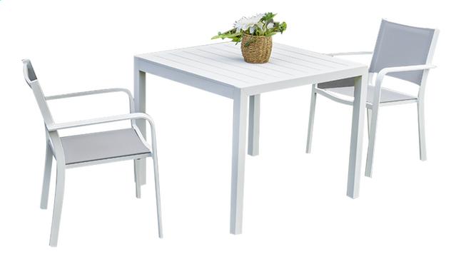 Image pour Ensemble de jardin Cannes blanc L 90 x Lg 90 cm à partir de ColliShop